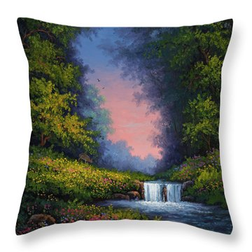 Throw Pillow featuring the painting Twilight Whisper by Kyle Wood