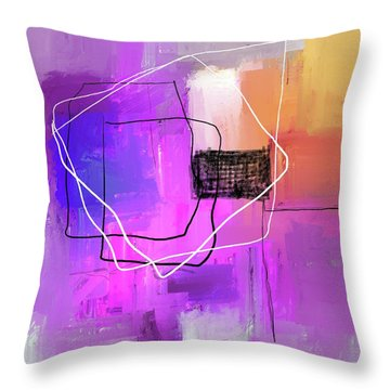 Throw Pillow featuring the mixed media Twilight Zone by Eduardo Tavares