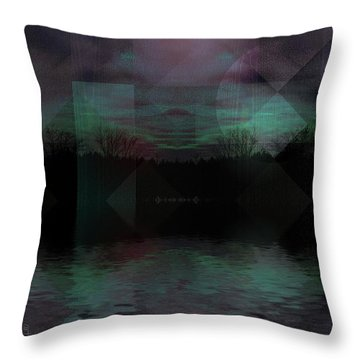 Twilight Zone Throw Pillow by Mimulux patricia no No