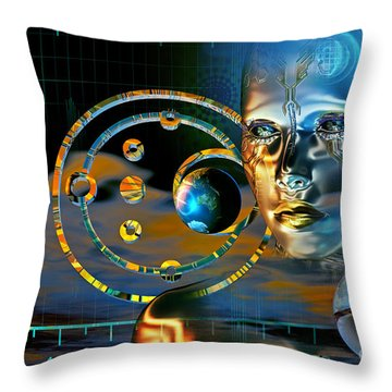 Throw Pillow featuring the digital art Twilight Zone by Shadowlea Is