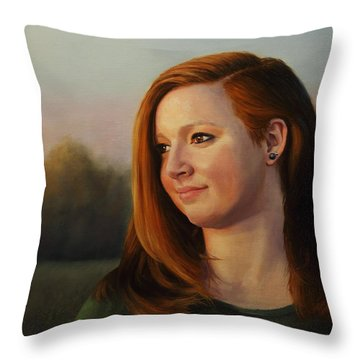 Twilight's Approach Throw Pillow