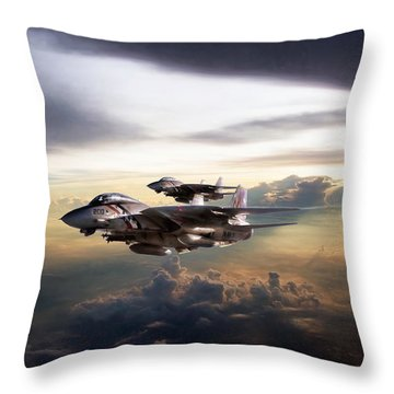 Throw Pillow featuring the digital art Twilight's Last Gleaming by Peter Chilelli