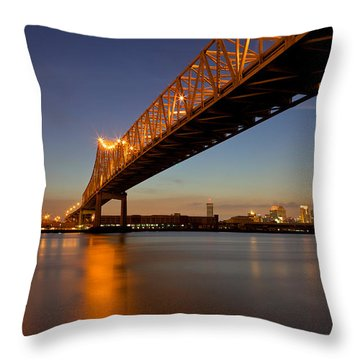 Throw Pillow featuring the photograph Twin Bridges by Evgeny Vasenev