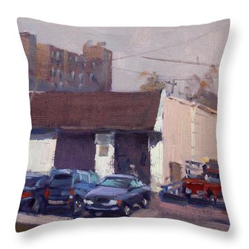 Twin City Transmission Throw Pillow