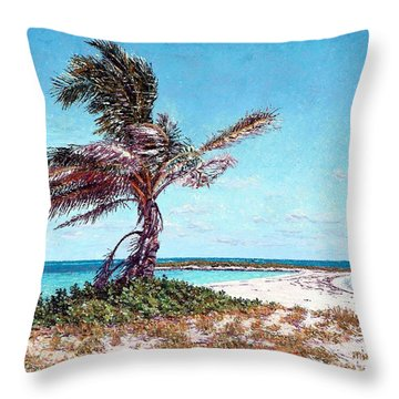 Twin Cove Palm Throw Pillow