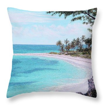Twin Cove Paradise Throw Pillow