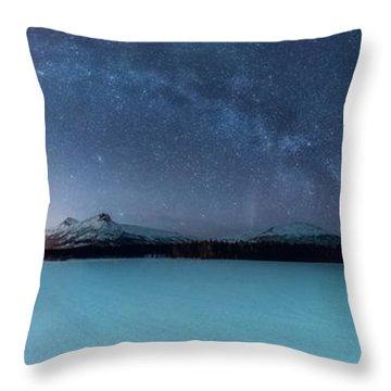 Twin Eruption Throw Pillow