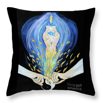 Twin Flame - Alive Throw Pillow