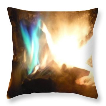 Twin Flame Throw Pillow