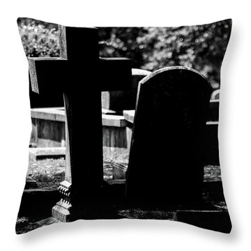 Twin Graves Throw Pillow