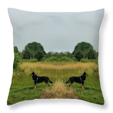 Twin Guards Throw Pillow