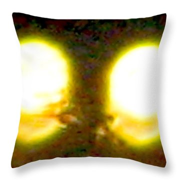 Twin Lights Throw Pillow by Stephen Hawks