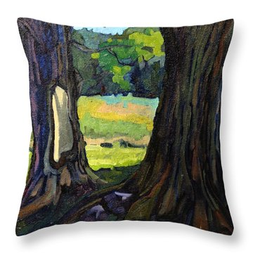 Twin Maples Throw Pillow by Phil Chadwick
