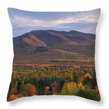 Twin Mountain Autumn Sunset Throw Pillow