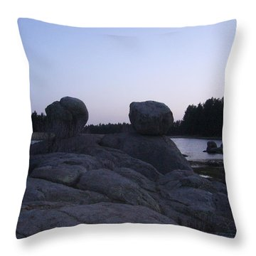 Twin Rocks Throw Pillow