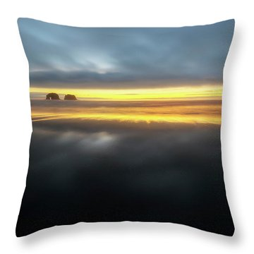 Twin Rocks Sunset Sliver Throw Pillow