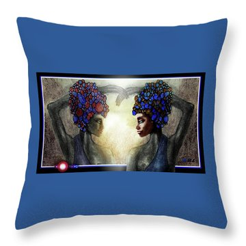 Twin Sisters Throw Pillow by Hartmut Jager
