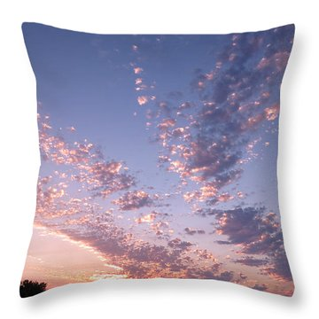 Twin Sisters Sunset Throw Pillow