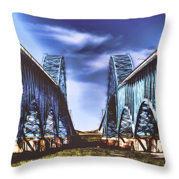 Twin Spanned Arched Throw Pillow by Jim Lepard
