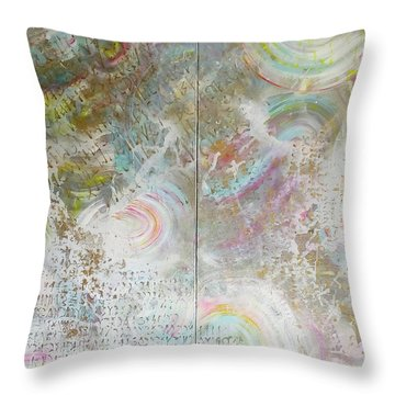 Twin Spica Throw Pillow