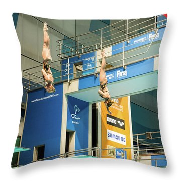 Throw Pillow featuring the photograph Twin Spin by Alex Lapidus