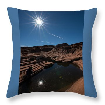 Twin Stars Reflection Throw Pillow