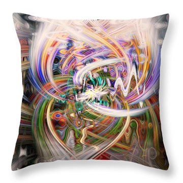 Twin Towers Throw Pillow by Cathy Donohoue