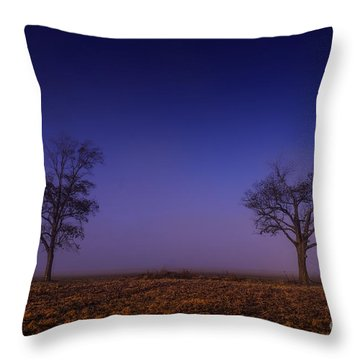 Throw Pillow featuring the photograph Twin Trees In The Mississippi Delta by T Lowry Wilson