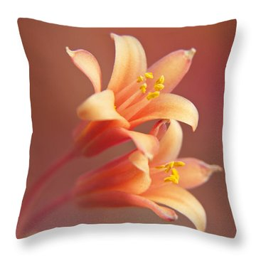 Twin Yucca Flowers Throw Pillow