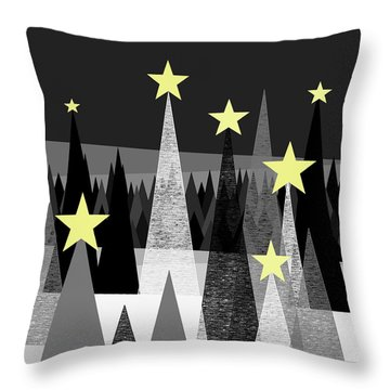 Twinkle Night Throw Pillow by Val Arie