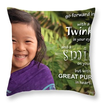 Twinkle Smile Throw Pillow