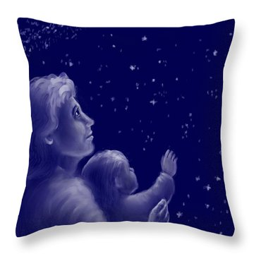 Twinkle Twinkle Little Star Throw Pillow by Dawn Senior-Trask