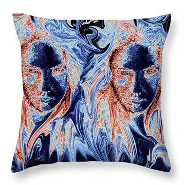Twins Throw Pillow by Alan Pickersgill