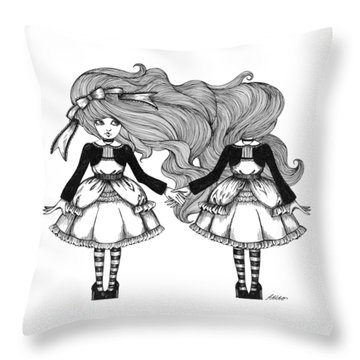 Twins Alice Throw Pillow