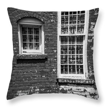 Throw Pillow featuring the photograph Twins - Bw by Christopher Holmes