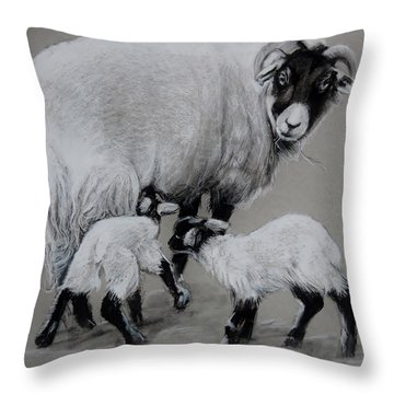 Twins Throw Pillow by Jean Cormier