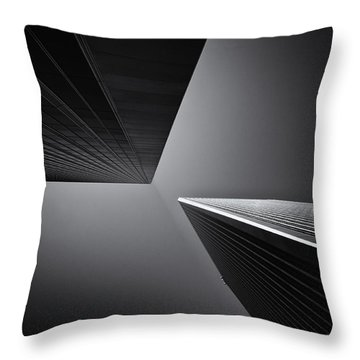 Twins Throw Pillow by Michael Hope