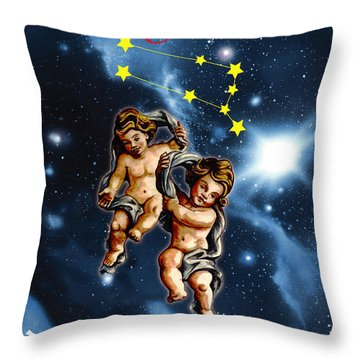 Twins Of Heaven Throw Pillow