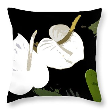 Twins Work Number 10 Throw Pillow by David Lee Thompson