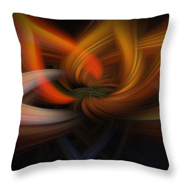 Twirl Abstract Throw Pillow
