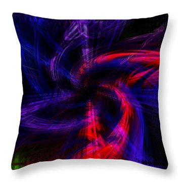 Twirled Star Throw Pillow