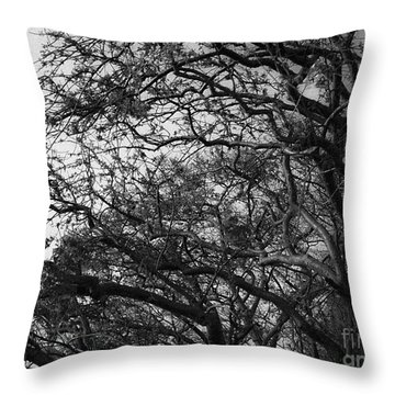 Twirling Branches Throw Pillow