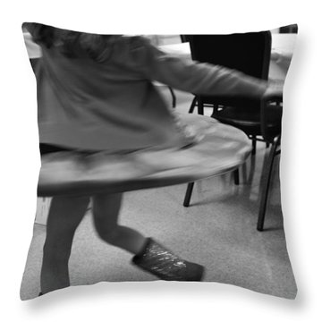 Twirling Girl  Throw Pillow