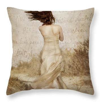 Twirling Painted Lady Throw Pillow