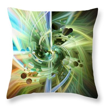 Twirls And Bubbles Throw Pillow
