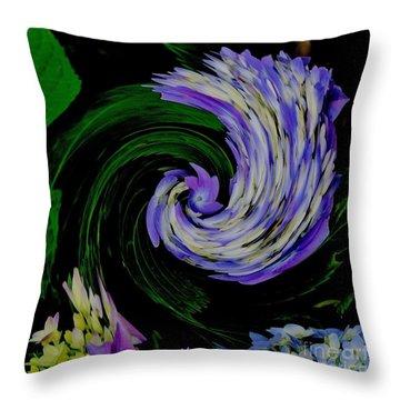 Throw Pillow featuring the digital art Twirly Birdy by Marsha Heiken