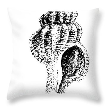 twirly Shell Throw Pillow
