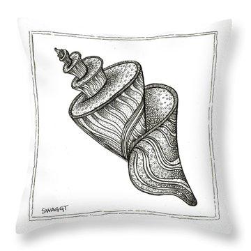 Twirly Shell Throw Pillow by Stephanie Troxell