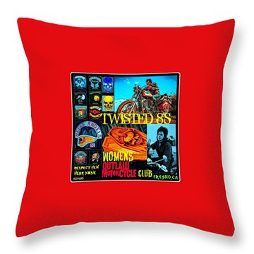 Twisted 8's Throw Pillow by Tony Adamo
