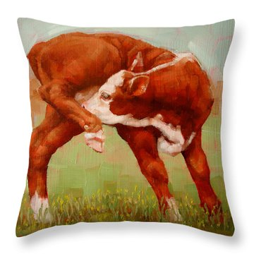Twisted Calf Throw Pillow